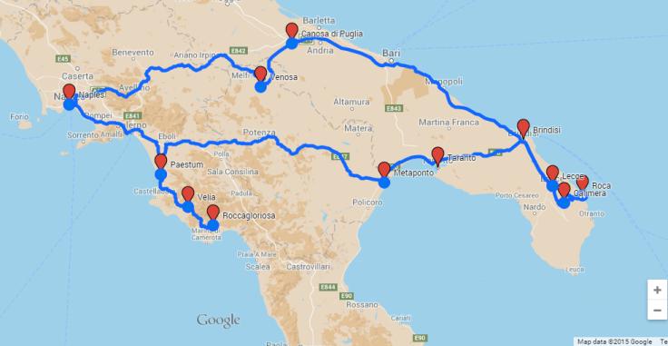 2015 trip map