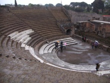 Theatre at Pompeii - reworked by the Romans, but built by Oscan-speakers