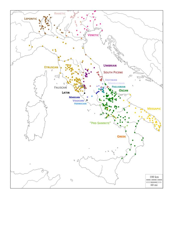 Languages of Italy Composite Map Jan 2016