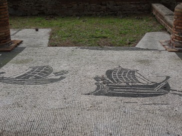 Mosaics of ships at merchants' guilds, Ostia