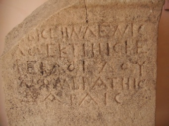 Oscan inscription from Rossano di Vaglio